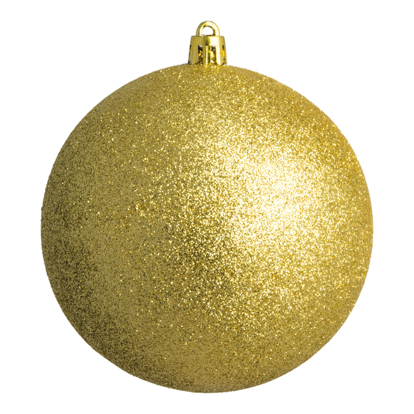 Weihnachtskugel, gold glitter, Ø 20cm