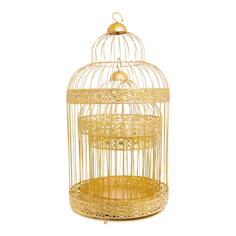 # Vogelkäfig, 30x30x55cm, 3-fach, Metall, 20x20x35cm, 25x25x45cm