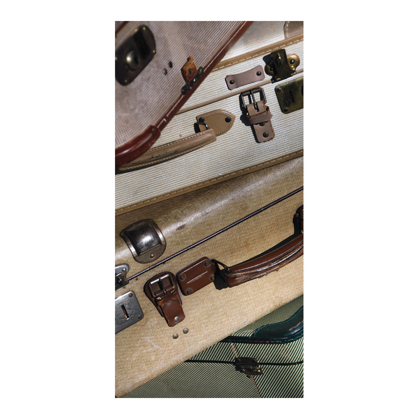 "# Motivdruck ""Alte Koffer"", 180x90cm Papier"