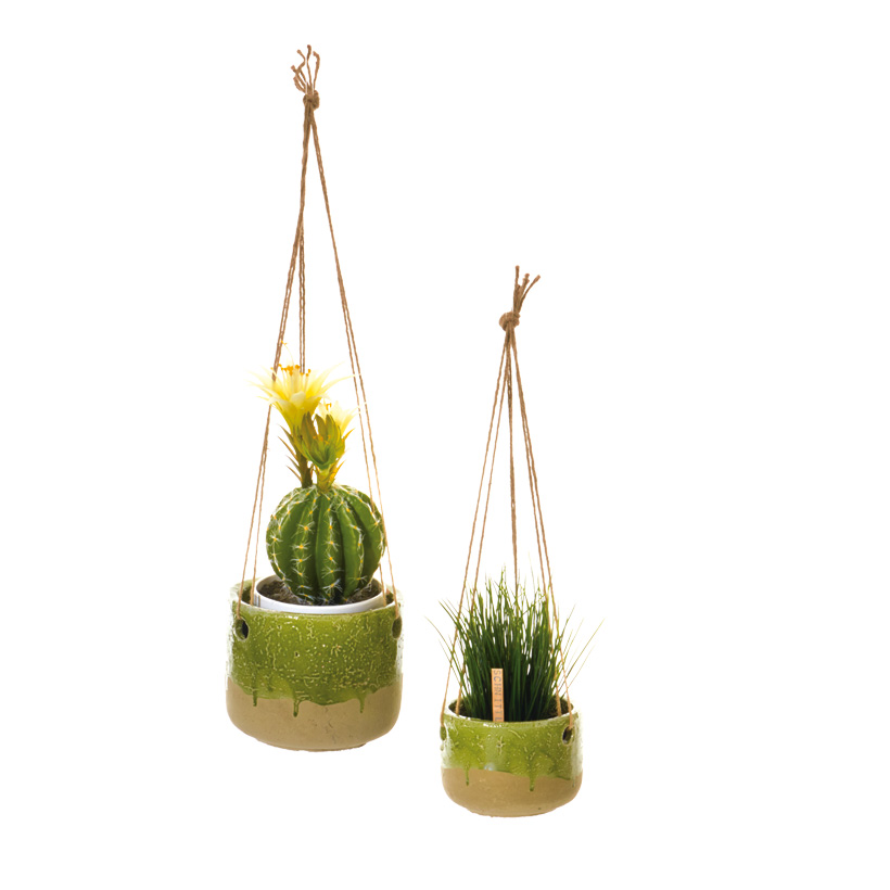# Blumenampel 13x15 cm Keramik/Seil