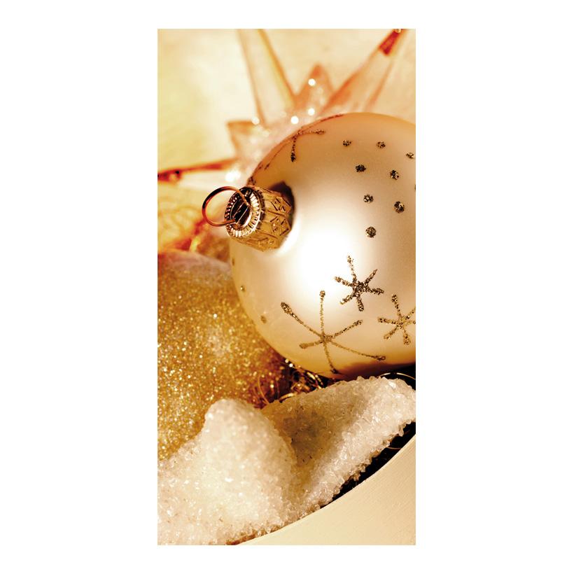 """# Motivdruck """"Goldene Weihnachten"""", 180x90cm Stoff"""