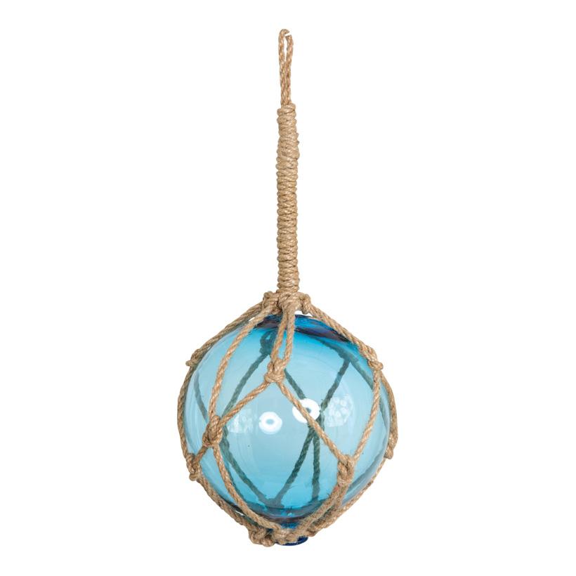 Glaskugel mit Tau Ø 15cm, Länge inkl. Kordel 36cm