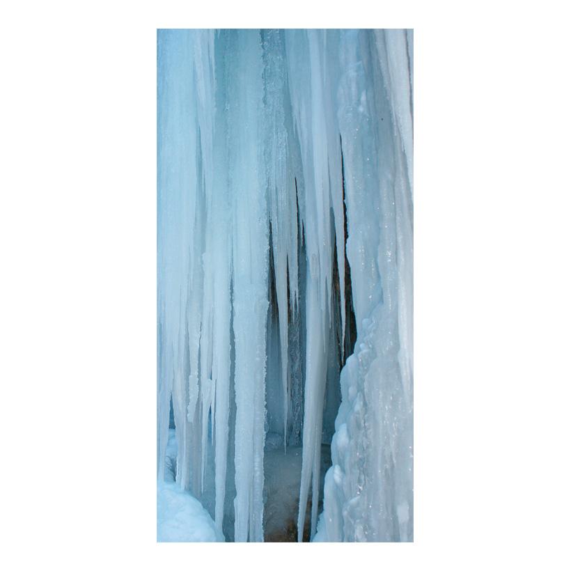 """# Motivdruck """"Eiswand"""", 180x90cm Stoff"""