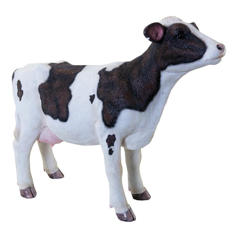 Kuh, L: 42cm H: 31cm stehend, aus Kunstharz