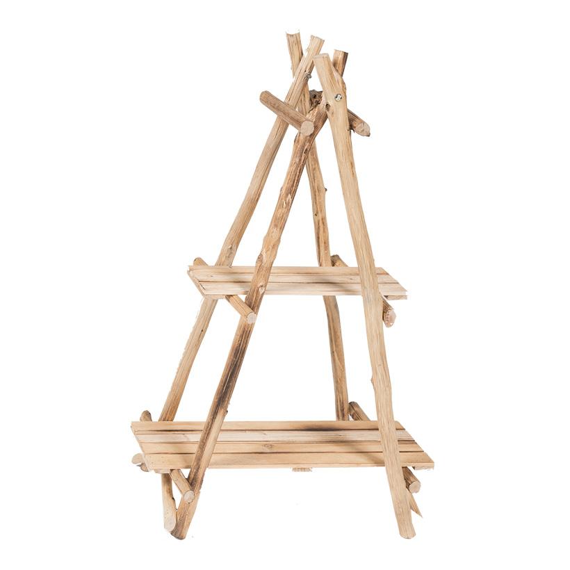 Holzregal, klappbar, 87x56cm mit 2 Einlegefächern