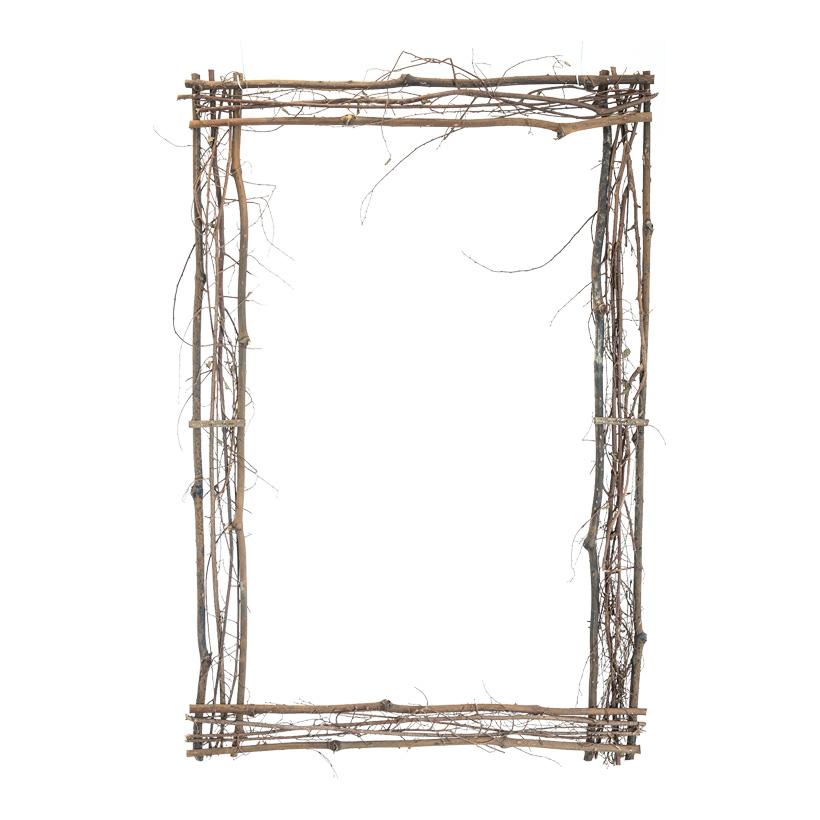 Rahmen aus Holzzweigen, H: 90cm B: 60cm mit Hänger
