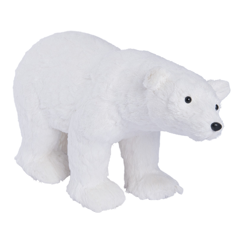 Eisbär, laufend, 55x34cm Styropor und Holzfaser