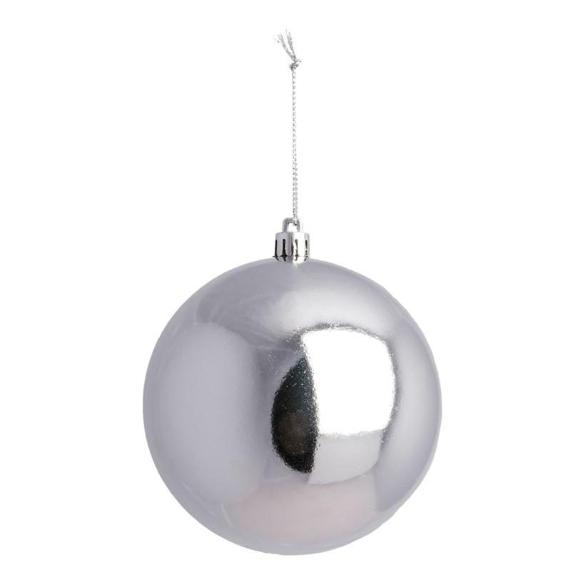 Weihnachtskugel, silber, Ø 10cm, nahtlos, glänzend