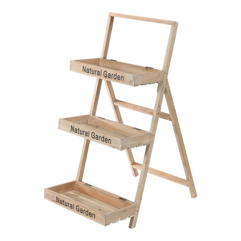 # Holzregal, 135x68x45cm mit 3 Fächern, bedruckt, klappbar