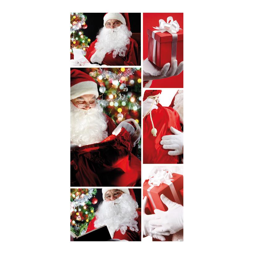 "# Motivdruck ""Santa Claus"", 180x90cm Stoff"