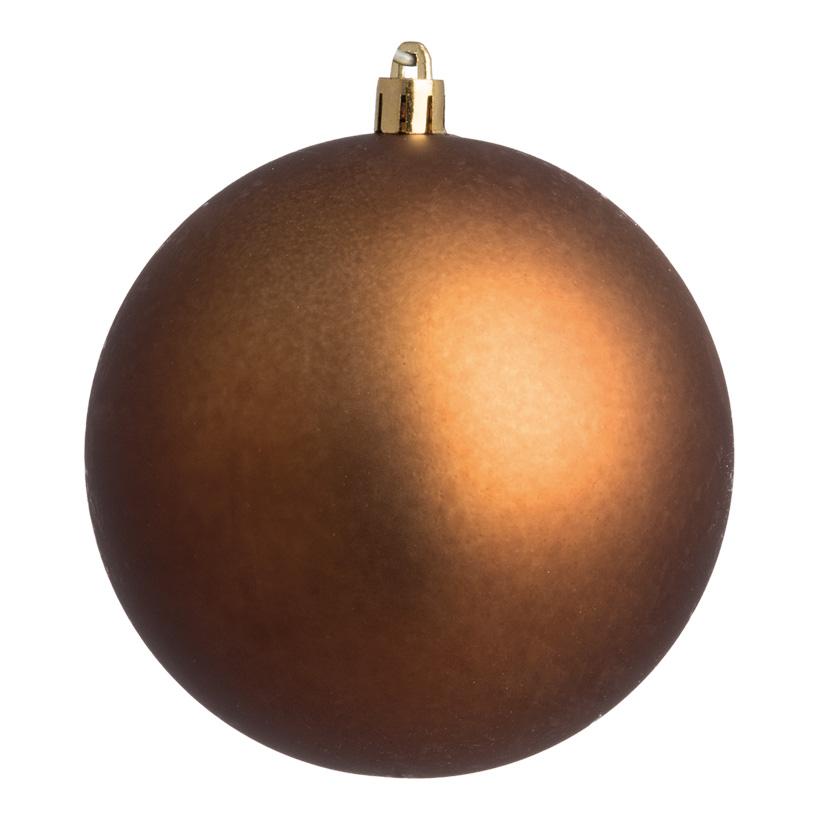 Weihnachtskugel, braun matt, Ø 6cm, 12 St./Blister