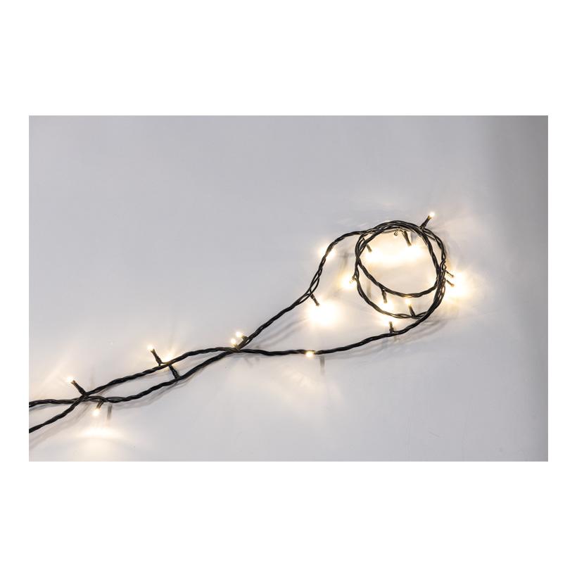 PVC-Lichterkette mit 50 LEDs, 500cm IP20 Stecker für innen, 20x koppelbar, 1,5m Zuleitung, 220-240V