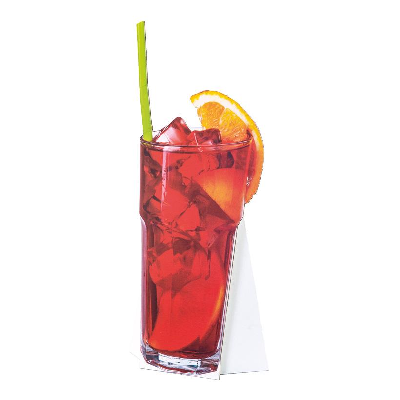 """# Cut-out """"Cocktail 2"""", 32x74cm mit klappbarer Pappstütze, aus Pappe"""