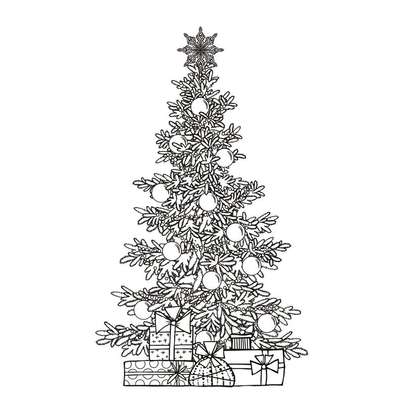 """Display """"Weihnachtsbaum"""", 80x140cm beidseitig bedruckt, aus Hartschaum"""