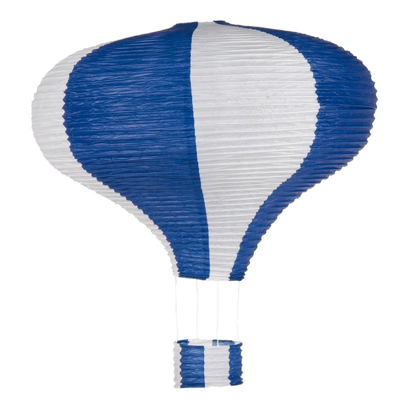 Heißluftballon, Ø 60cm, 80cm, Streifen, Papier