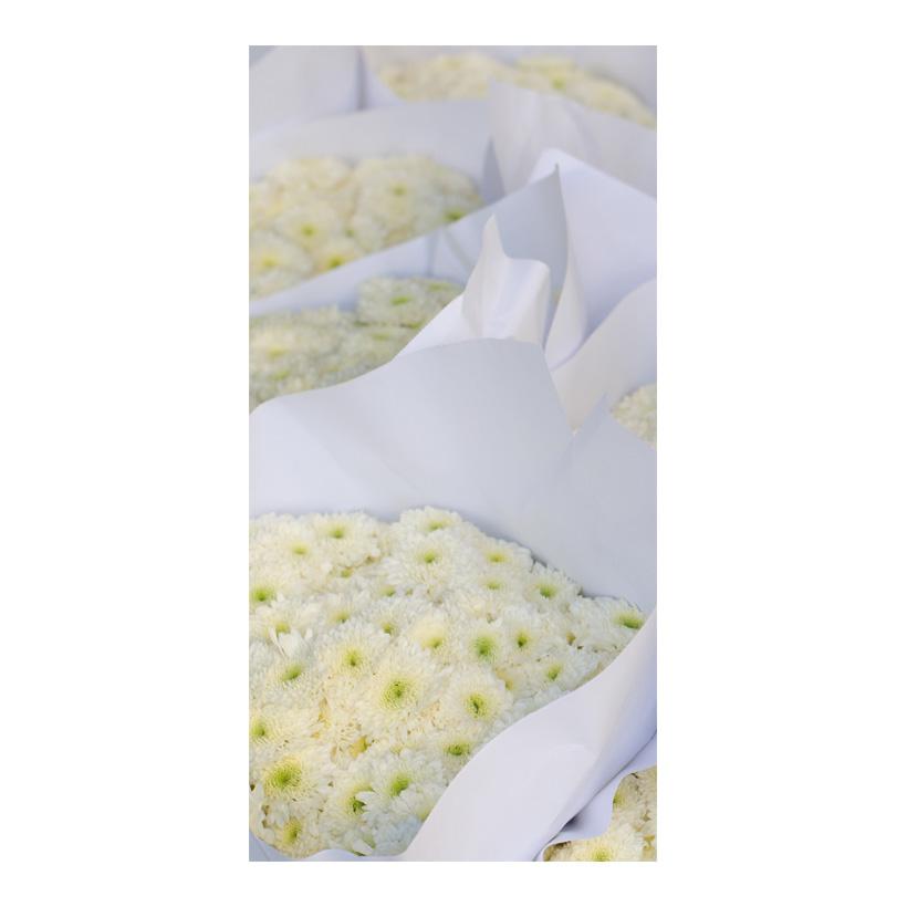 """# Motivdruck """"Weiße Blumen"""", 180x90cm Stoff"""