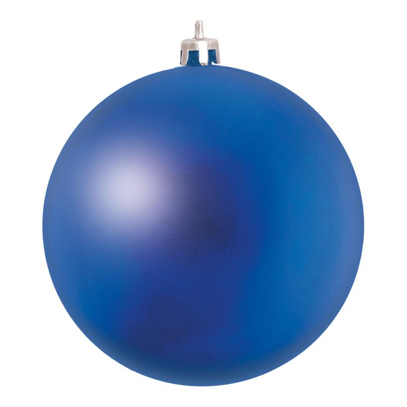 Weihnachtskugel, Mattblau, êØ 14cm, aus Kunststoff, Schwer entflammbar nach B1, UV-beständig
