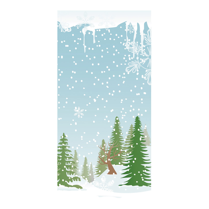 """# Motivdruck """"Schneewald"""", 180x90cm Papier"""