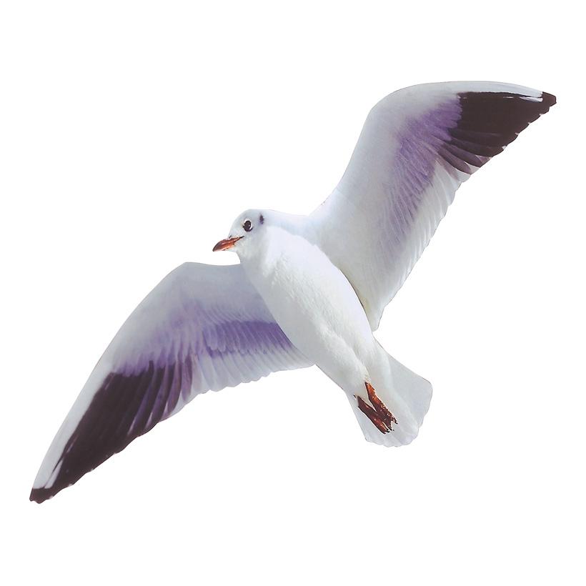 # Möwe fliegend 39 cm Spannweite, 15 cm hoch, Karton beidseitig bedruckt