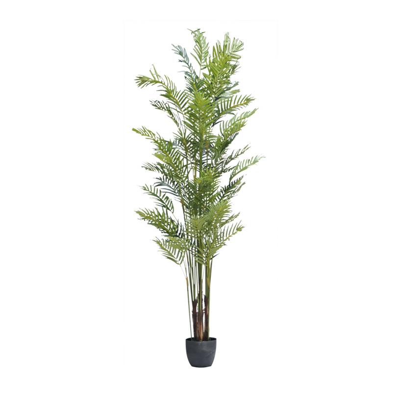 # Parlor Palme, 210cm, 10-fach, 1290 Blätter aus Kunstseide, im Topf