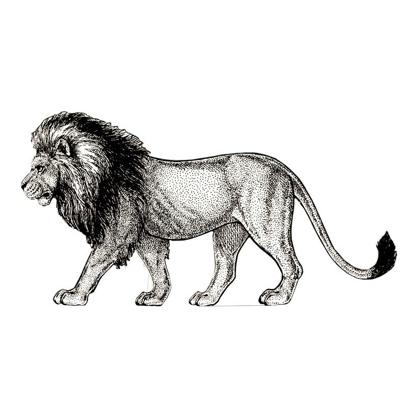 """Cut-Out """"Löwe"""", 100x70cm Stütze rückseitig klappbar"""