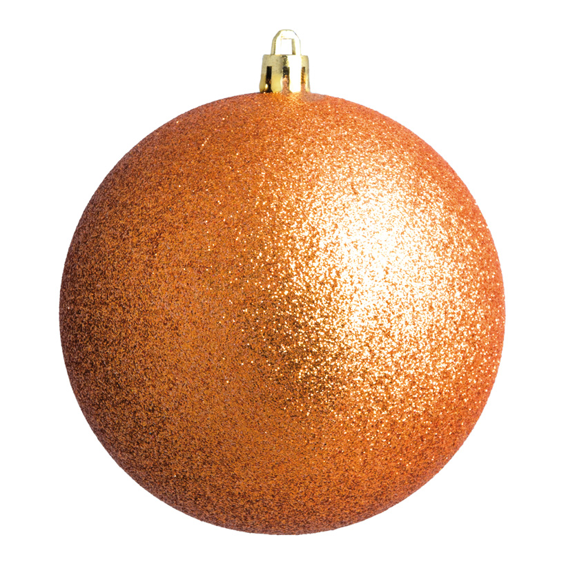Weihnachtskugeln, kupfer glitter, Ø 6cm 12 St./Blister