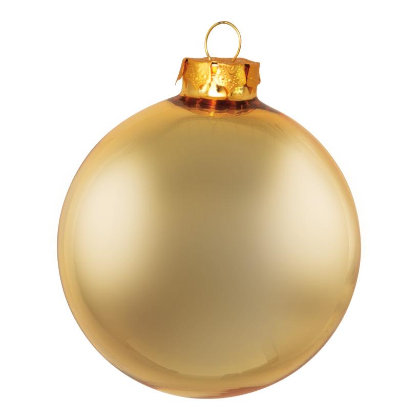 # Weihnachtskugeln, gold matt, Ø 8cm, 6 St./Blister, aus Glas