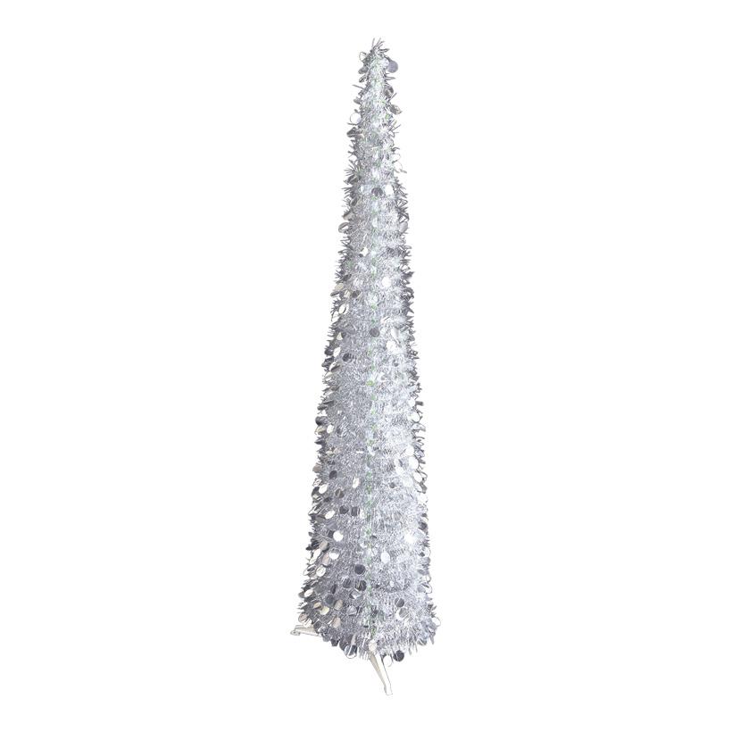 Pop-Up Tinsel-Baum, 150cm mit Ständer