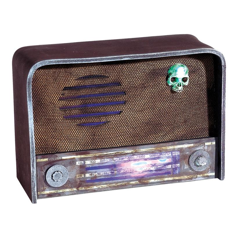 Radio, 21x31x11cm, mit Blinkfunktion+Kratzgeräuschen, Kunststoff