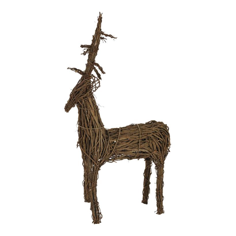 # Rentier 137cm H: 80cm aus Holzzweigen