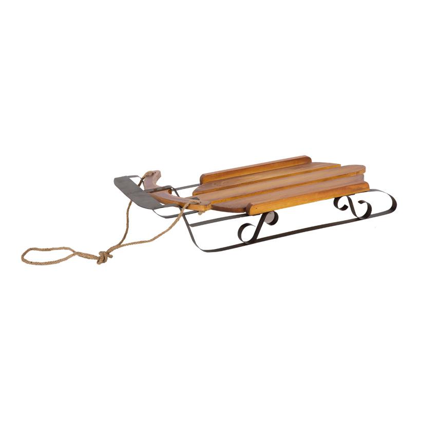 Holzschlitten, 71x39x14cm, mit Tau