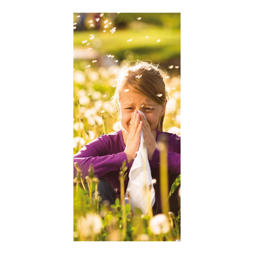 """# Motivdruck """"Allergie"""", 180x90cm Stoff"""