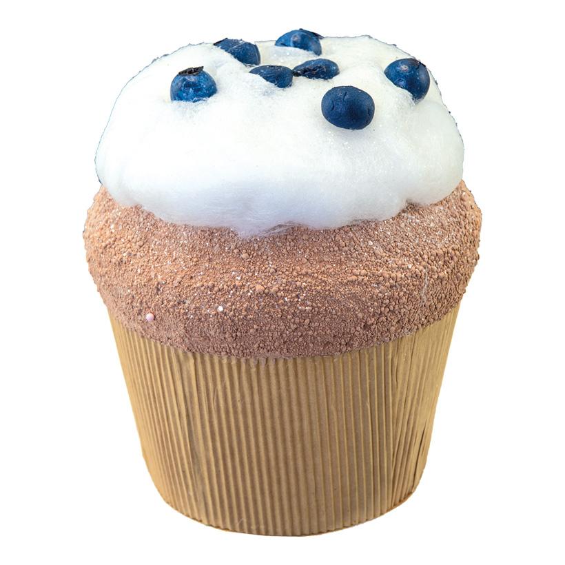 Blaubeer-Cupcake, H: 18cm XL, aus Hartschaum